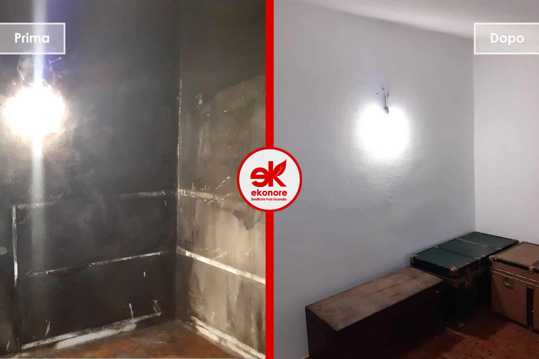Bonifica pulizia dopo un incendio in casa